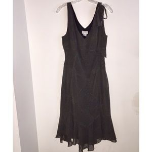 Ann Taylor LOFT Sleeveless Ruffle Flared Dress